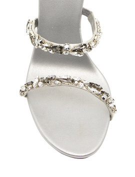 Crystal Embellished Satin Snake Coil Sandals by Rene Caovilla