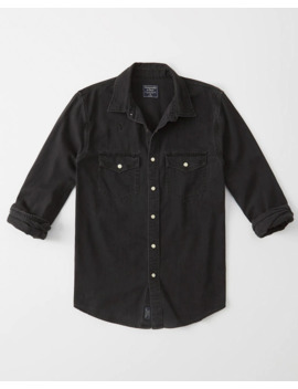 Western Denim Button Up Shirt by Abercrombie & Fitch