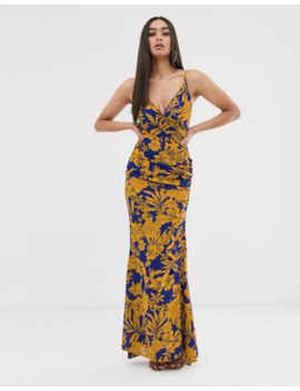Club L London –&Nbsp;Wickelmaxikleid Mit Print by Asos