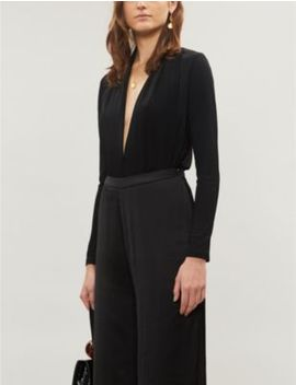 Rosalba Plunge Neck Woven Body by Reiss