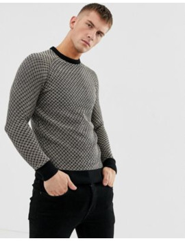 Ringspun Waffle Textured Knitted Jumper by Asos