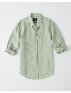 Icon Linen Shirt by Abercrombie & Fitch