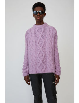 Pullover Mit Zopfmuster Lilac Melange by Acne Studios