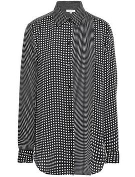 Essential Paneled Checked Crepe De Chine Shirt by Equipment