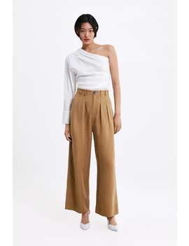 Wide Cut Trousers With Darts by Zara