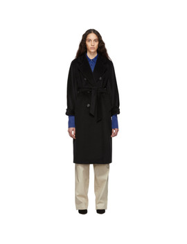 Black Madame Coat by Max Mara