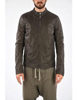 Leather Lou Jacket Dark Dust by Rick Owens