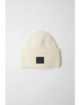 Ribbed Beanie White/Black by Acne Studios