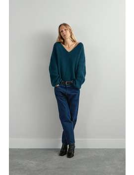 Wool Blend Sweater With Elastic Hem by Zara