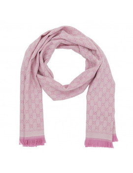 New Sten Scarf Ivory Pink by Gucci