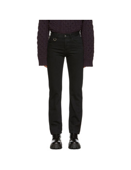 Black 2 Ring Slim Fit Jeans by Raf Simons