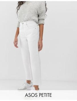 Asos Design   Petite   Florence   Authentieke Jeans Met Rechte Pijpen In Krijtwit by Asos Design