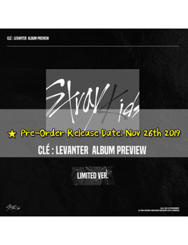 Stray Kids   Cle : Levanter [Limited Edition] Pre Order Benefit+Poster+Free Gift by Brand New