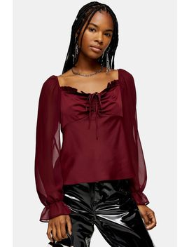 Palermo Chiffon Sleeve Blouse by Topshop