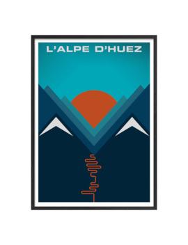 Jeremy Harnell   L'alpe D'huez Framed Print, 74 X 53cm by John Lewis & Partners