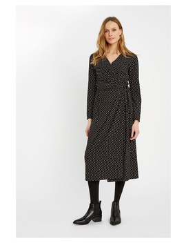 Imogen Dot Wrap Dress by People Tree