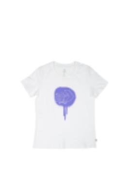 Women Skateboard Star Chevron Slim T Shirt White by Converse