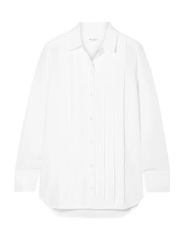 Jack Pleated Washed Silk Shirt by Equipment