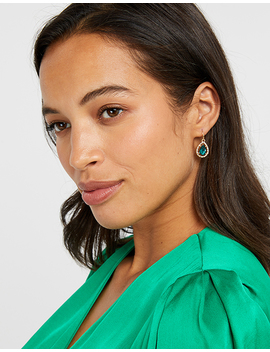 Pretty Stone Sparkle Short Drop Earrings by Accessorize