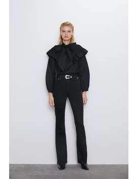 Jeans Zw Premium High Waist Skinny Flare Astra Black by Zara