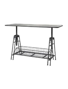 "49"" Mesa De Trabajo Adjustable Metal Work Table With Storage Basket by Cc Home Furnishings"