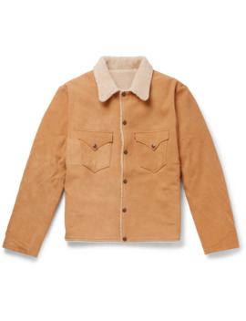 Shearling Lined Suede Trucker Jacket by Levi's Vintage Clothing
