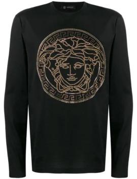 Langarmshirt Mit Medusa by Versace