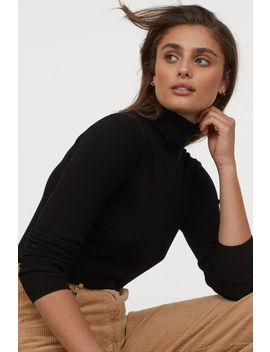 Rib Knitted Turtleneck by H&M