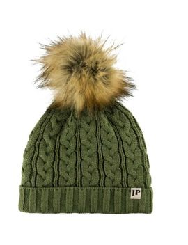 Jack Pyke Ladies Cable Knit Bob Hat Womens Winter Headwear Chunky Beanie by Jack Pyke