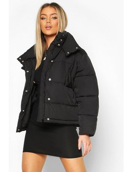 Collar Detail Puffer Jacket by Boohoo