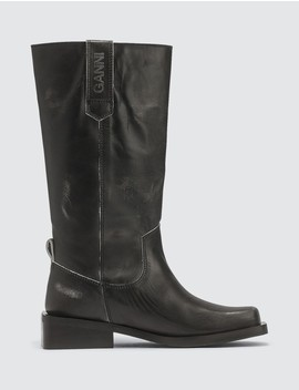 Mc Leather Boots by Ganni