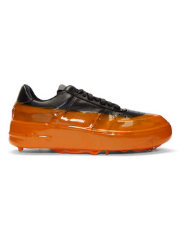 Black & Orange Dipped Sneakers by 424