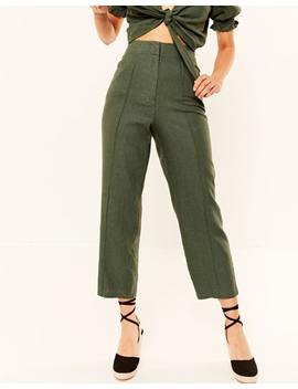 Linen Blend Pintuck Tailored Pant by Glassons