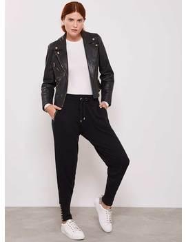 Black Cotton Cashmere Jogger by Mint Velvet