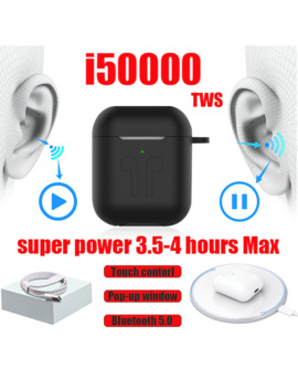 I50000 Tws Wireless Earphone Super Bass Support In Ear Detect Sensor Pk I12 I80 I200 I5000 I9000 I30000 Tws Original Oordopjes by Ali Express.Com