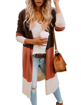 Women's Knitted Long Sleeve Cardigans Open Front Casual Boho Sweater by Wodstyle Llc