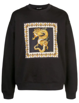 Dragon Print Sweatshirt by Versace