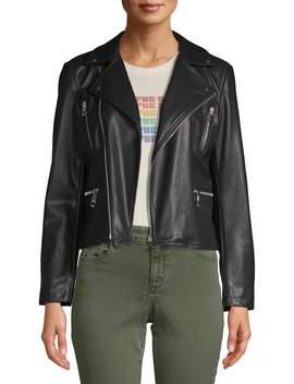 Scoop Vegan Leather Biker Jacket Women's by Scoop