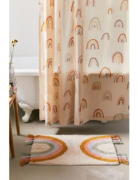Rainbow Fringe Bath Mat by Urban Outfitters