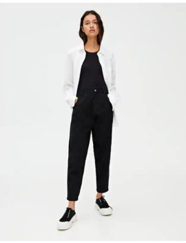 Jeans Slouchy Básicos Negros by Pull & Bear
