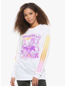 My Hero Academia Purple & Orange Ombre Girls Long Sleeve T Shirt by Hot Topic