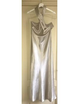 Nwt Zara Woman Limited Edition Halter Neck Evening Maxi Dress Champagne Size S by Zara