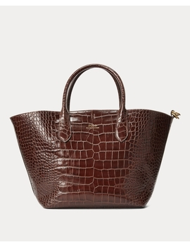 Embossed Medium Bellport Tote by Ralph Lauren