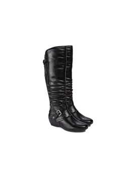 Women's Pabla Tall Shaft Wide Calf Boot by Bare Traps