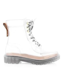 Florrie Lace Up Rain Boots by See By Chloé