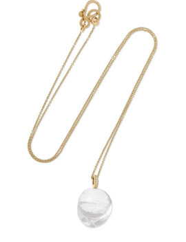 Murano Simple 14 Karat Gold Diamond And Glass Necklace by Sophie Bille Brahe