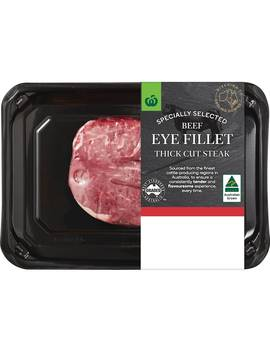 Woolworths Beef Eye Fillet Steak 280g   400g by Woolworths
