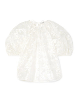 Embroidered Taffeta Top by Cecilie Bahnsen