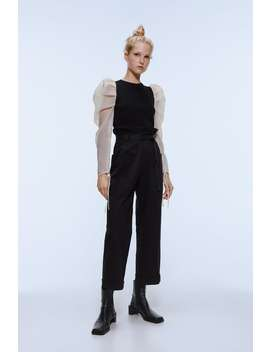 High Waisted Belted Pants by Zara