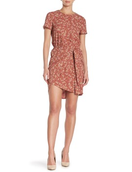 Short Sleeve Floral Print Hi Lo Dress by 1.State